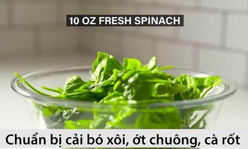 Làm món salad cải bó xôi tốt cho người mắc tiểu đường