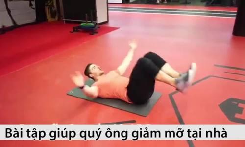Hướng dẫn phái mạnh tập luyện giảm mỡ bụng không cần đến gym