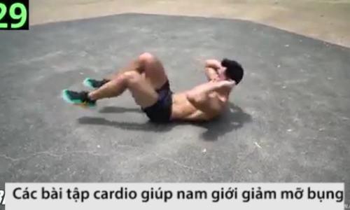 10 phút tập cardio giúp nam giới giảm mỡ bụng
