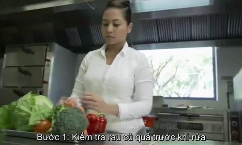 Cách rửa rau củ sạch trước khi sử dụng