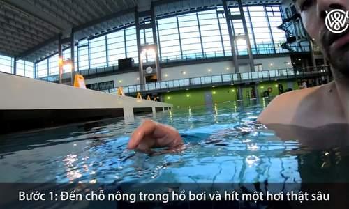 Hướng dẫn 5 bước tập luyện giúp bạn nổi trong nước