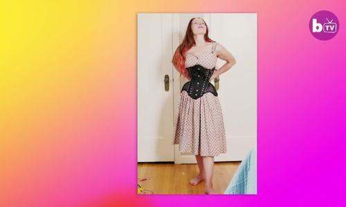 Người phụ nữ có vòng eo 40cm nhờ nịt bụng