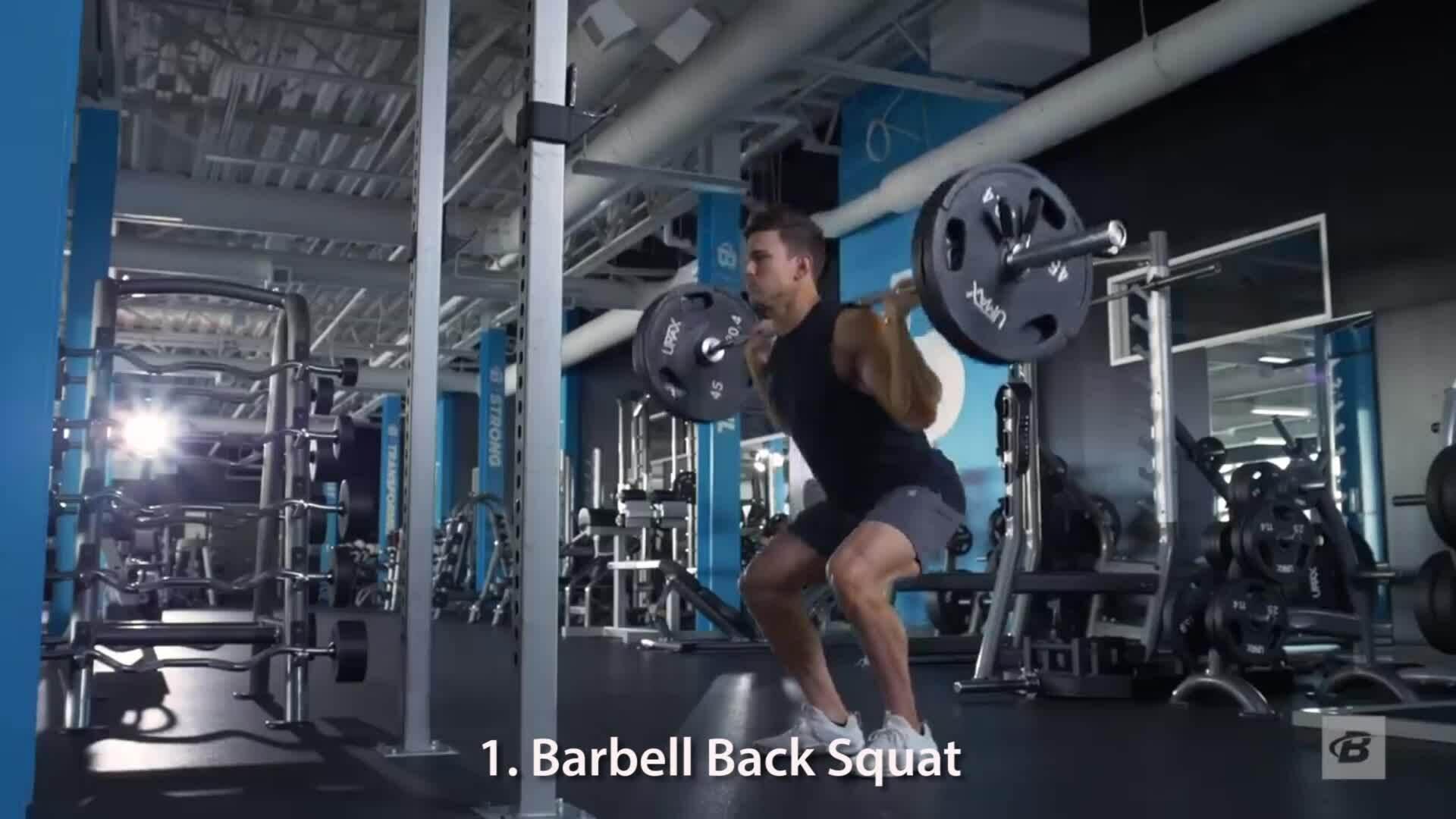 Bài tập cơ bắp đùi cường độ cao
