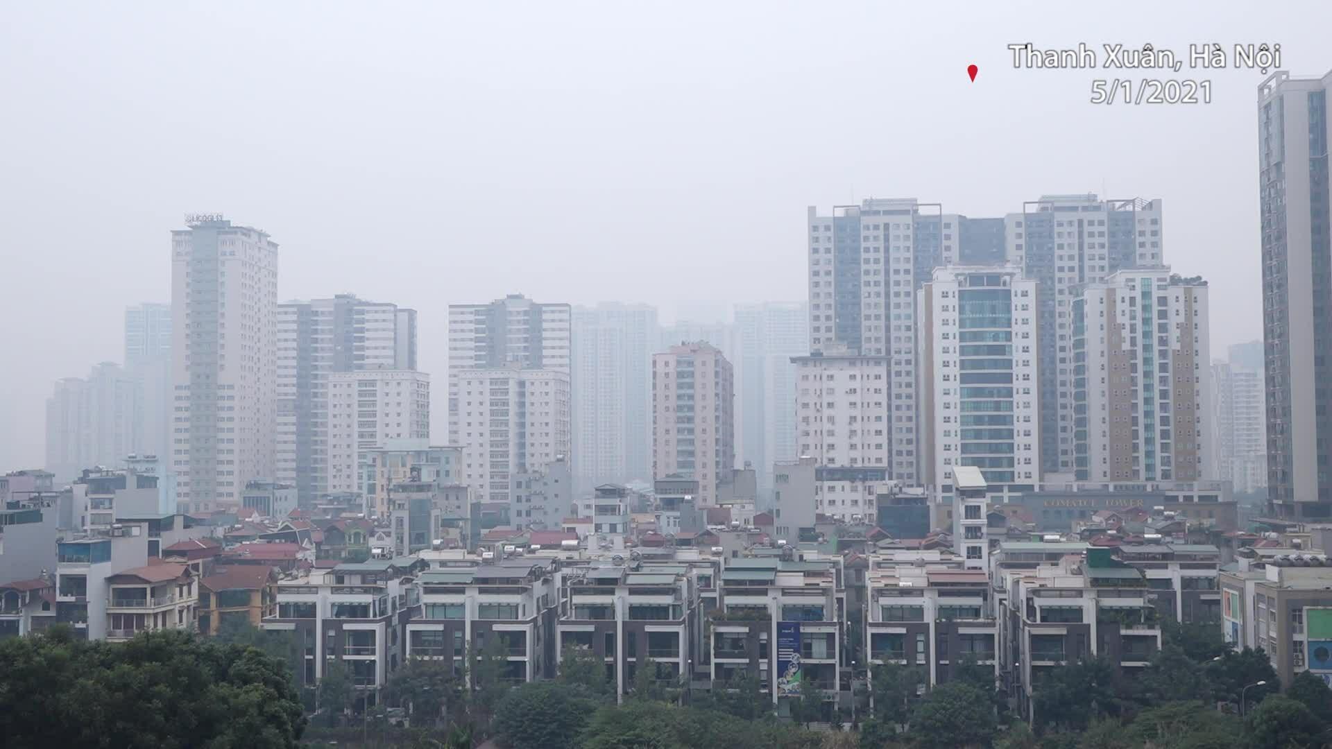 Không khí Hà Nội ở mức gây hại sức khỏe