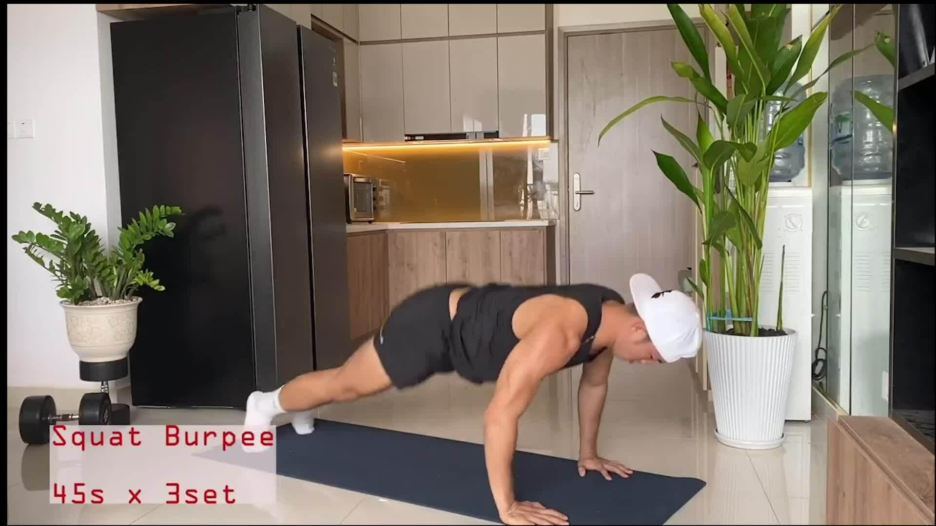 6 bài tập đốt mỡ xây dựng cơ bắp cho nam giới