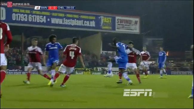 Chelsea 2-0 Swindon Town: Chiến thắng nhẹ nhàng