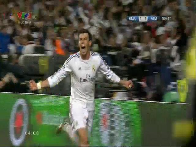 Bale ghi bàn nâng tỷ số lên 2-1 cho Real