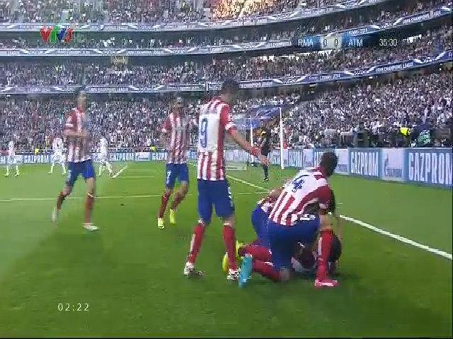 Diego Godin mở tỷ số cho Atletico