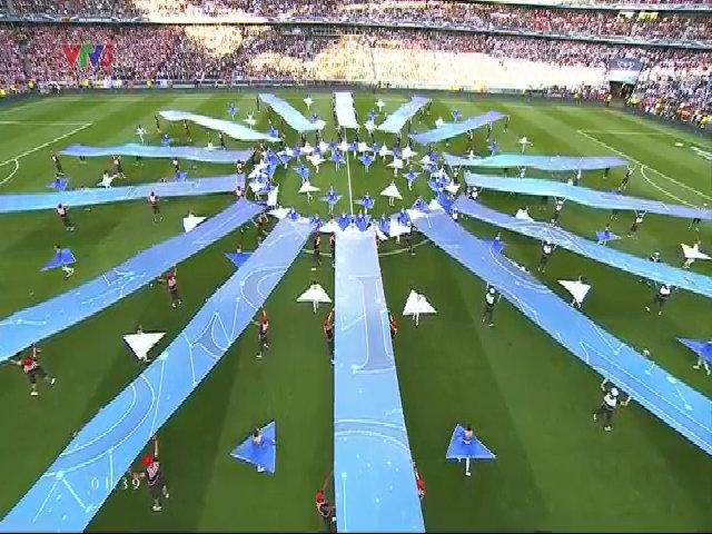 Hình ảnh ấn tượng của buổi lễ khai mạc trận chung kết Cup C1