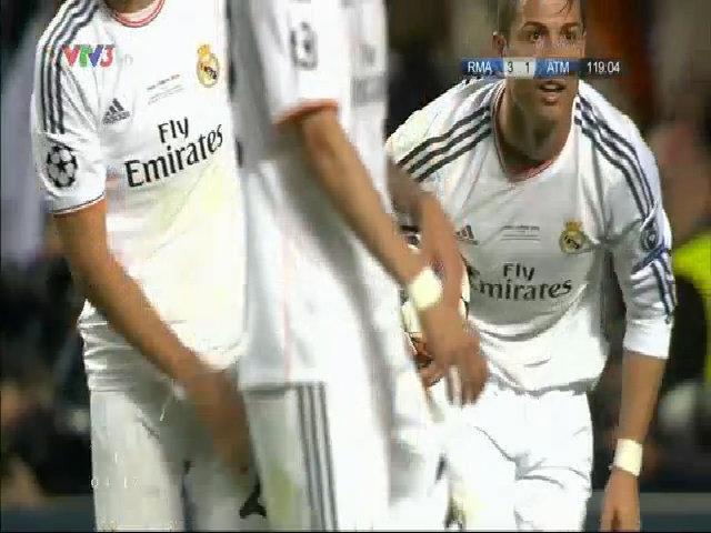 Ronaldo ghi bàn ấn định tỷ số 4-1 cho Real