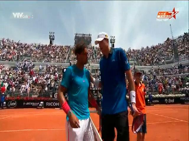 John Isner 0-2 Rafael Nadal