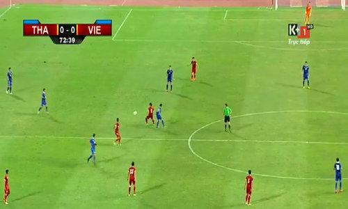 Minh Châu nhận thẻ vàng thứ hai rời sân