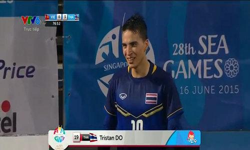 Tỷ số là 3-0 cho U23 Thái Lan