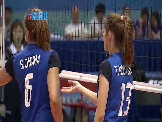 Bóng chuyền nữ Việt Nam 0-3 Bóng chuyền nữ Thái Lan