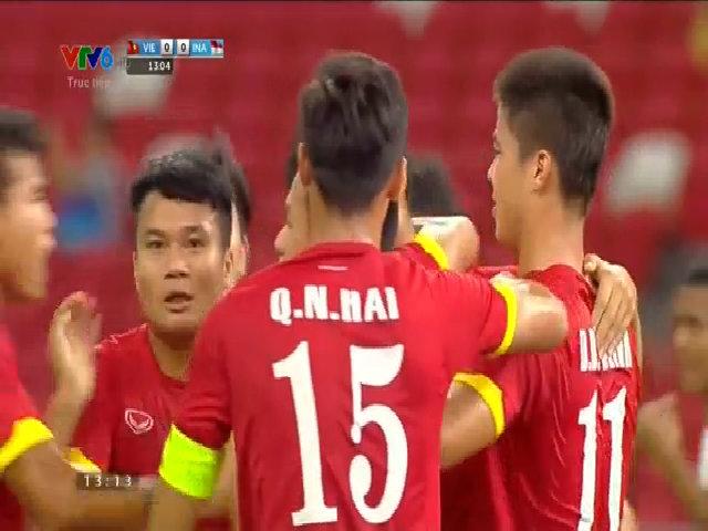 Hồng Quân mở tỷ số cho U23 Việt Nam