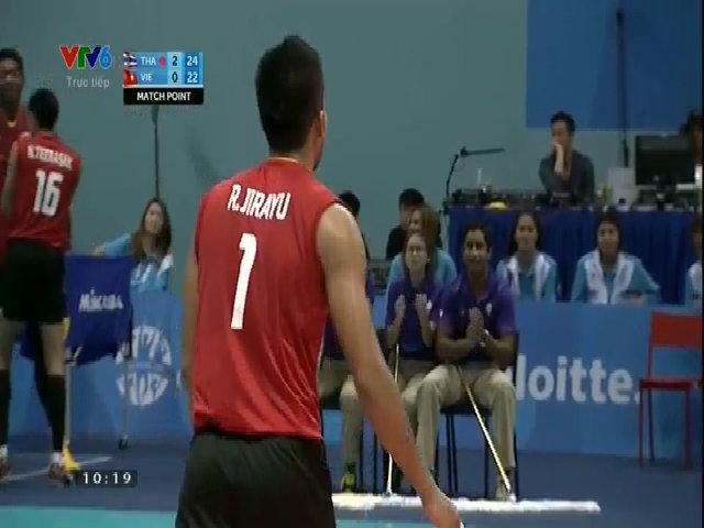 Chung kết bóng chuyền nam SEA Games 28: Việt Nam 0-3 Thái Lan