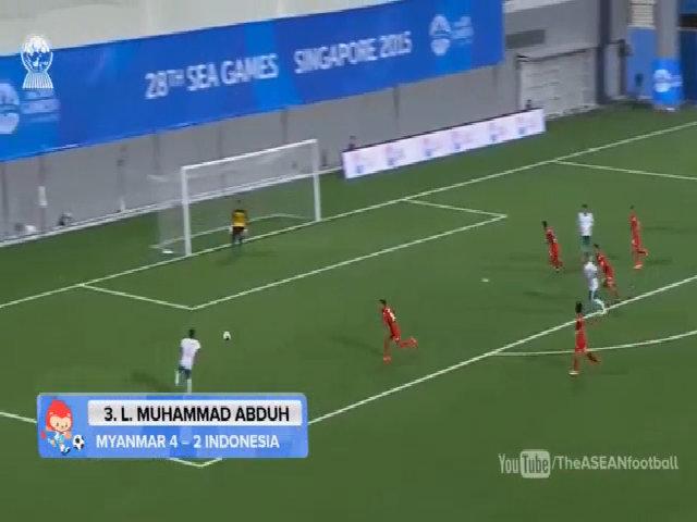 Abduh ghi bàn vào lưới Myanmar