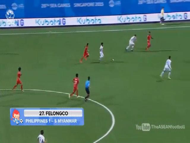 Felongco ghi bàn vào lưới Myanmar