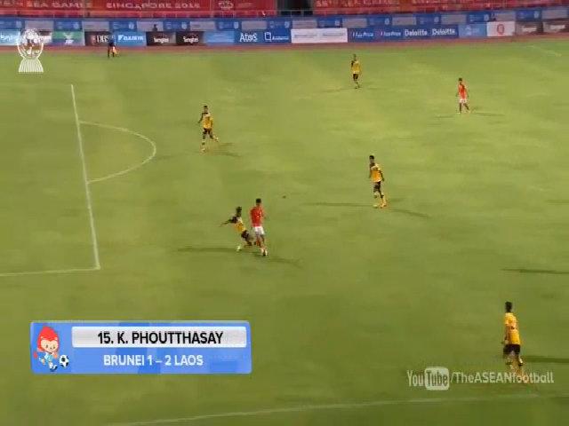 Phoutthasay lập siêu phẩm vào lưới U23 Brunei