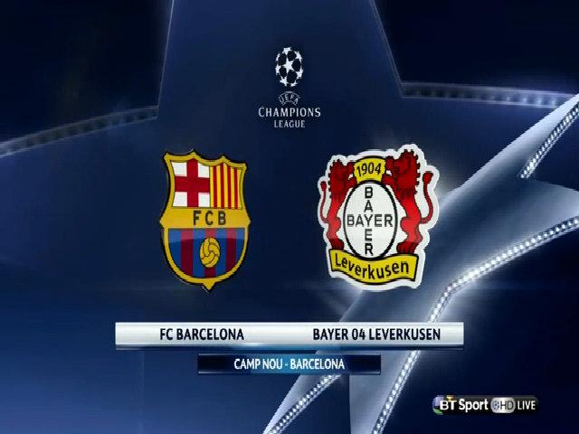 Barcelona2-1 Bayer Leverkusen