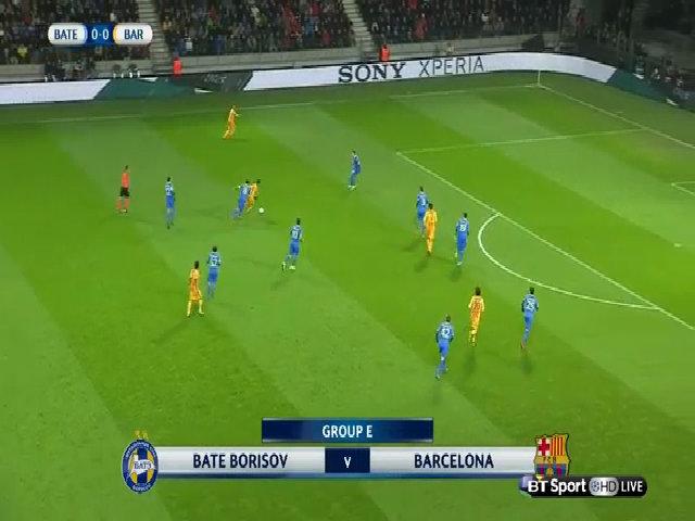 BATE Borisov 0-2 Barcelona