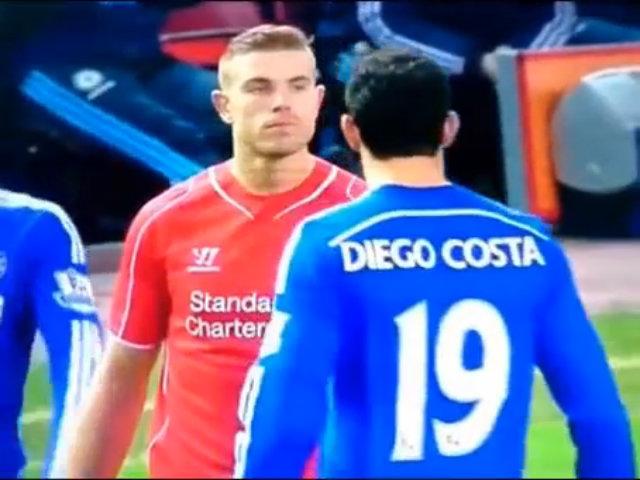 Henderson chạm mặt Costa trên sân