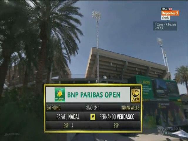 Rafael Nadal 2-0 Fernando Verdasco