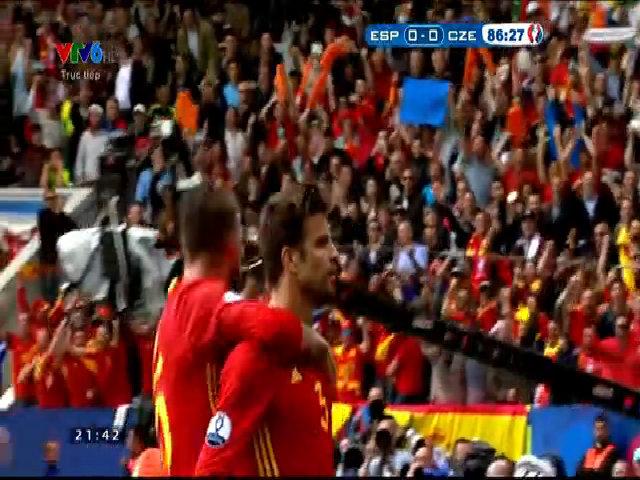 Tây Ban Nha 1-0 CH Czech