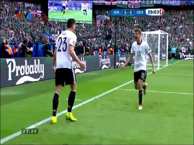 Bắc Ireland 0-1 Đức