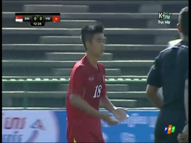 U16 Singapore 0-3 U16 Việt Nam