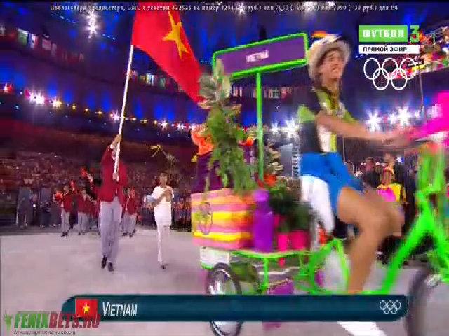 Quốc kỳ Việt Nam tung bay ở Olympic 2016