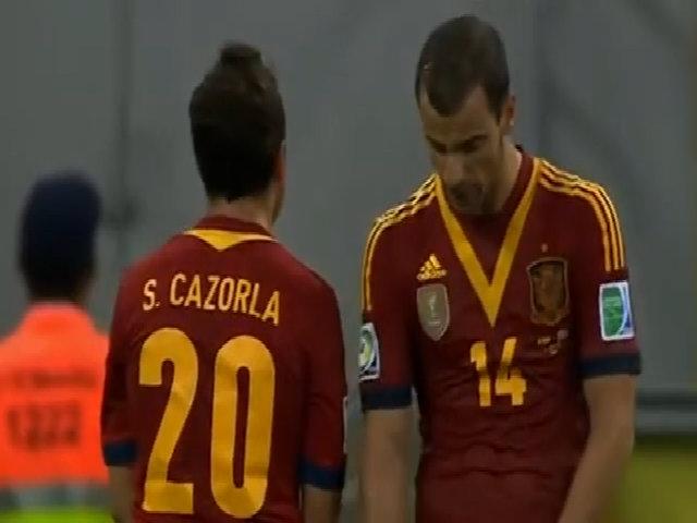 Bàn thắng vào lưới Tây Ban Nha