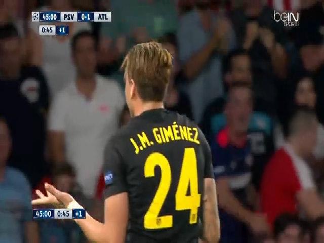PSV 0-1 Atletico Madrid