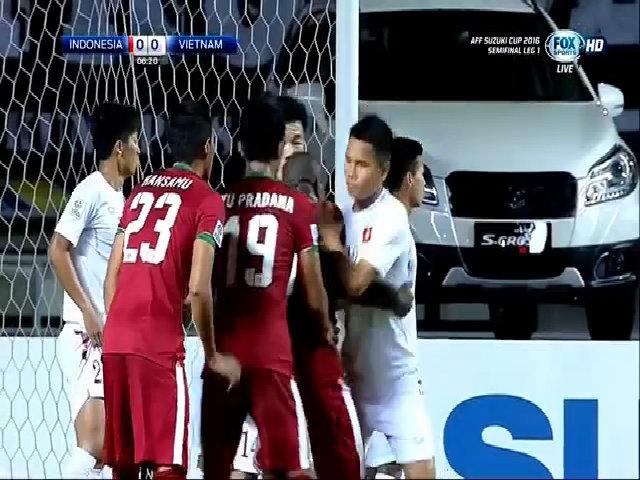 Tổng hợp diễn biến trậnIndonesia 2-1 Việt Nam
