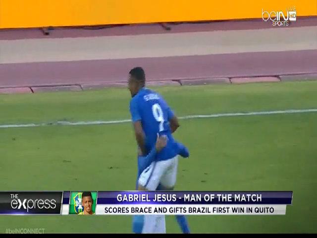 Gabriel Jesus lập cú đúp trong trận ra mắt ở tuyển Brazil