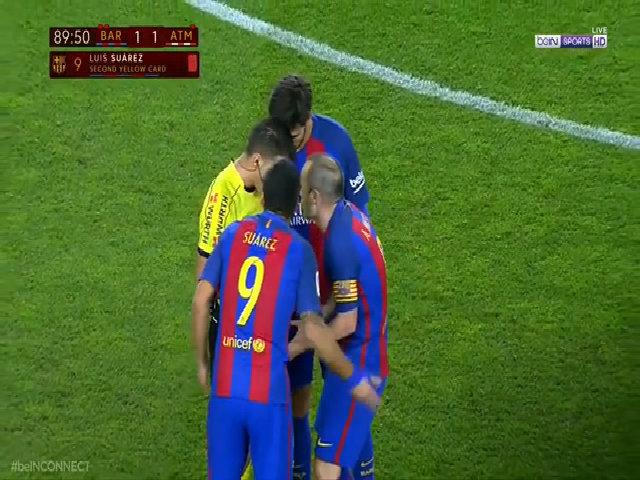 Barca kháng án bất thành, Suarez ngồi ngoài chung kết Cup nhà vua