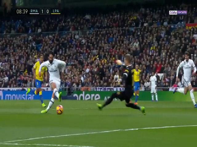 Diễn biến chính trận Real 3-3 Las Palmas