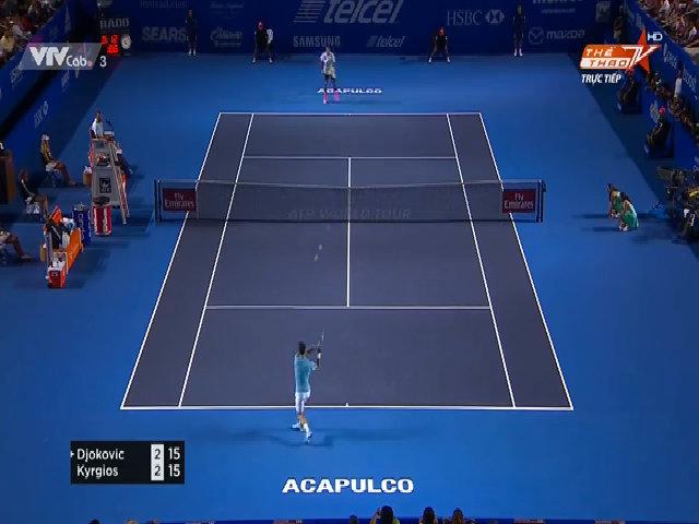 Novak Djokovic 1-2 Nick Kyrgios