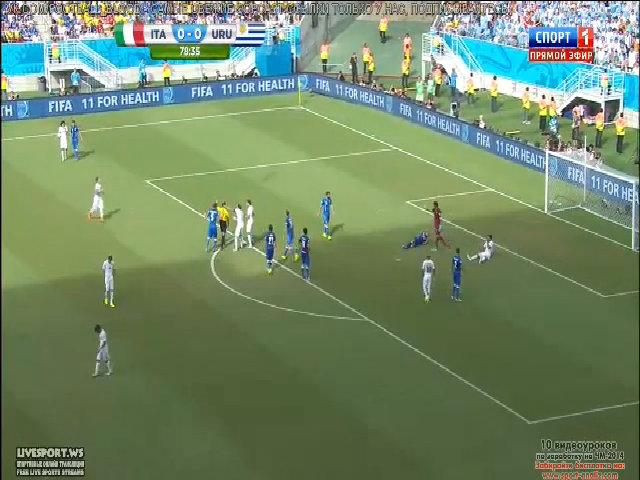 Luis Suarez lại giở món cắn trộm với Chiellini