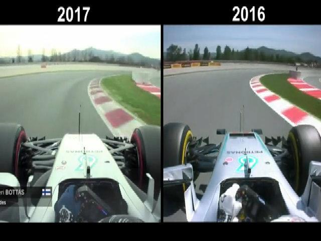 So sánh tốc độ xe F1 của năm 2016-2017