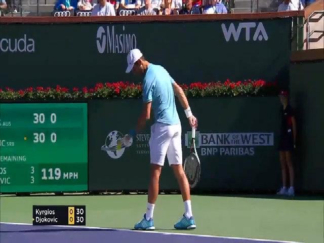 Nick Kyrgios 2-0 Novak Djokovic