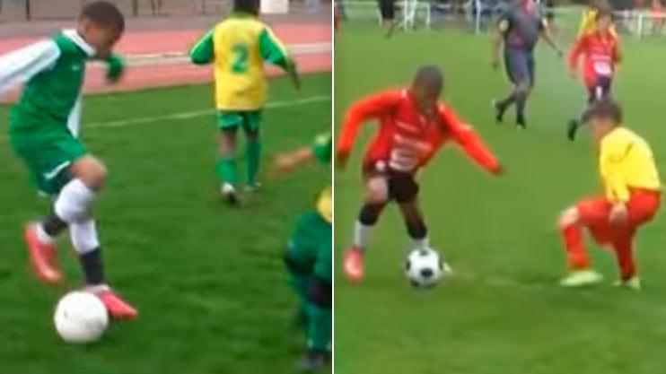 Mbappe chơi bóng điêu luyện năm chín tuổi