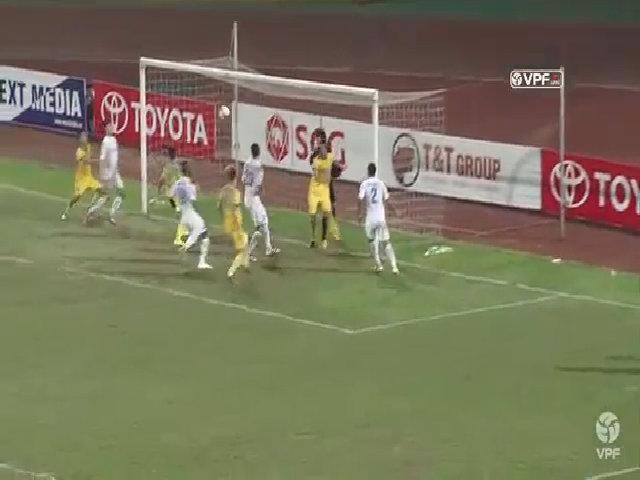Tình huống trọng tài không công nhận bàn thắng của Thanh Hoá