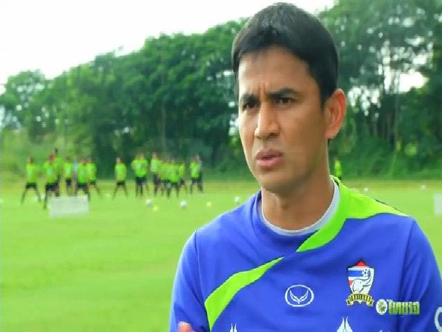 Kiatisuk trong những ngày đầu dẫn dắt tuyển Thái Lan