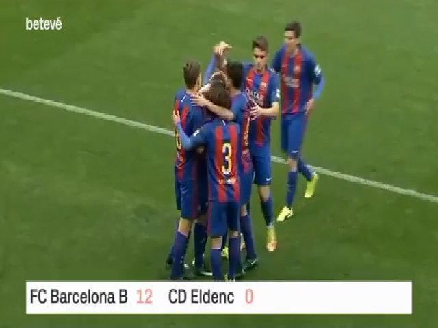 Trận thắng 12-0 của Barca B bị nghi dàn xếp tỷ số