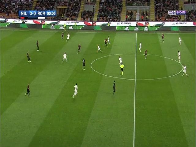 AC Milan 1-4 AS Roma