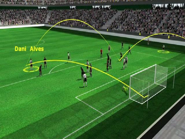 Bàn nâng tỷ số lên 2-0 của Alves