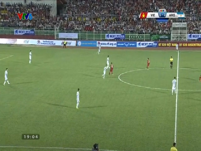 Truyền hình trực tiếp: U20 Việt Nam -U20 Argentina