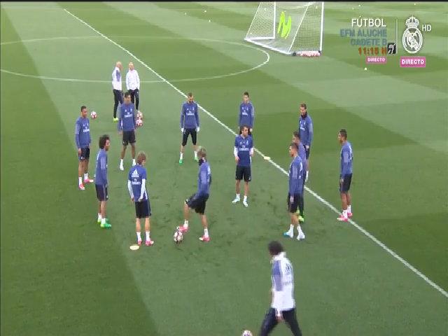 Real tập luyện nghiêm túc cho trận tiếp Sevilla