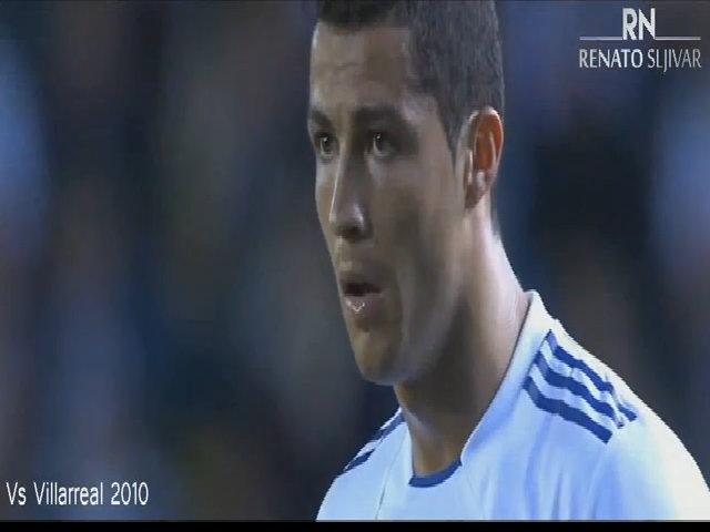 Ronaldo lấy đà khi sút phạt